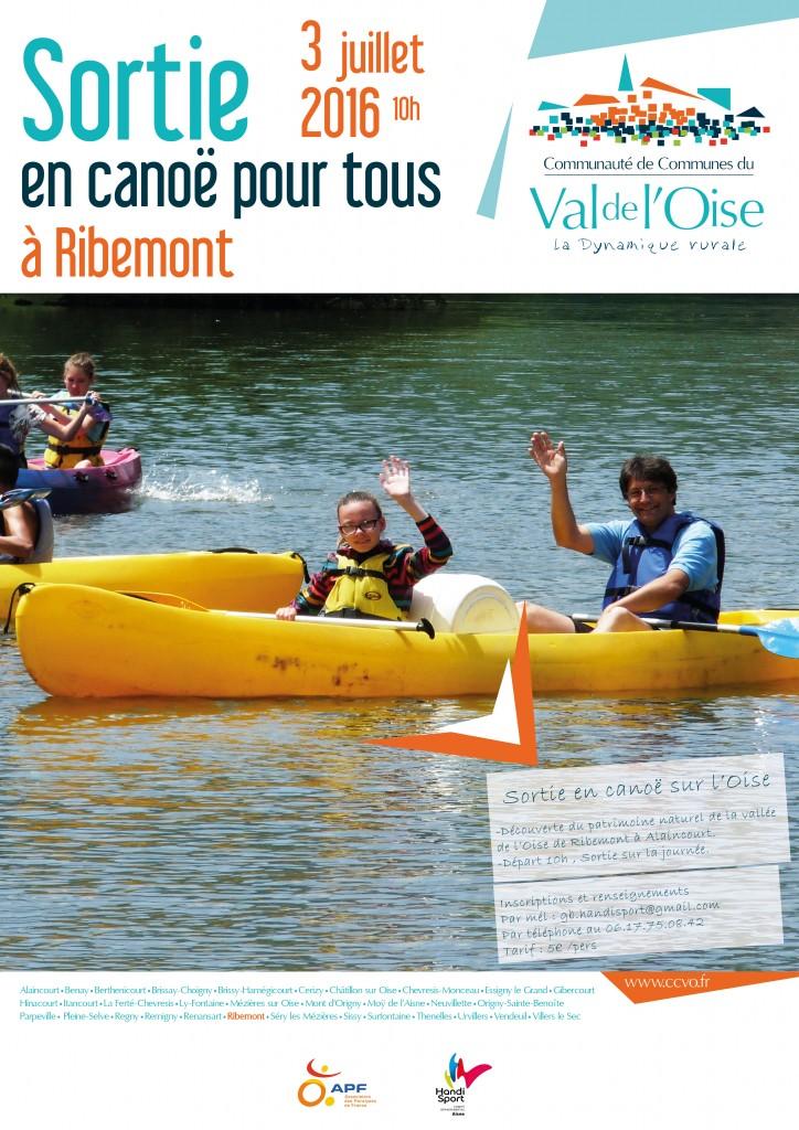 affiche A3 canoe Handisport