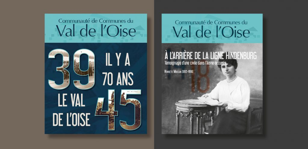"""Les ouvrages """"A l'arrière de la ligne Hindenburg"""" et 39-45 """"Il y a 70 ans Le Val de l'Oise"""" sont disponibles !"""