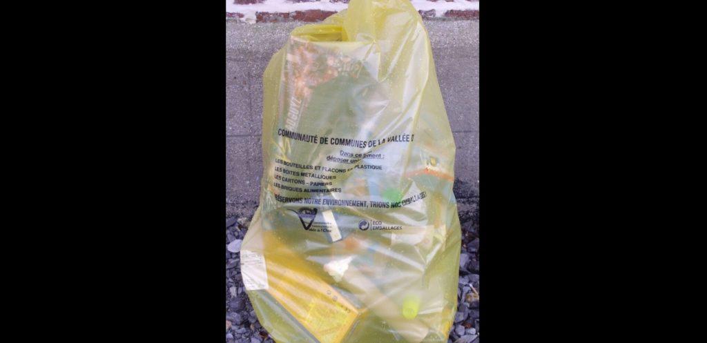 REPRISE de la collecte sélective (sacs JAUNES) et du dépôt du VERRE dans les containers