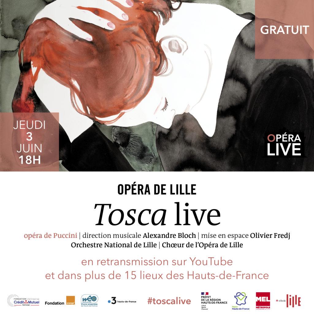 OPERA DE LILLE : Tosca Jeudi 3 Juin 20H en direct sur Youtub